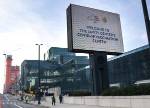 The Jacob K. Javits Convention Center has transformed into a vaccine distribution center.